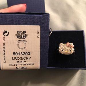 Hello Kitty Swarovski ring
